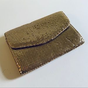 Vintage 1980's Gold Chainmail Mesh Clutch Purse